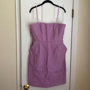 J.Crew purple eyelet dress